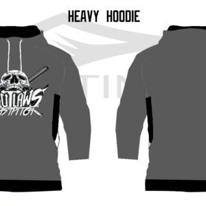 Outlaws Fastpitch Heavy Hoodie Grey (preorder)